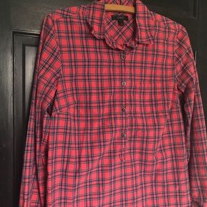 J crew tartan plaid popover shirt Christmas 4